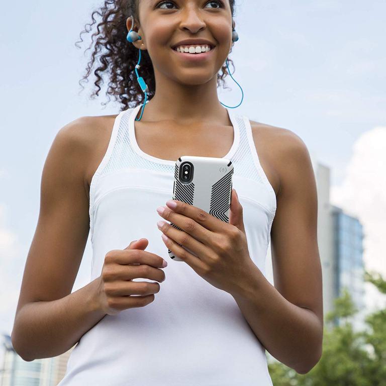 Superior Digital News - Speck Presidio Grip iPhone XS Max Case - Black-White