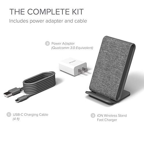 Superior Digital News - iOttie iON Wireless Fast Charging Stand Charger Qi-Certified - Complete Kit