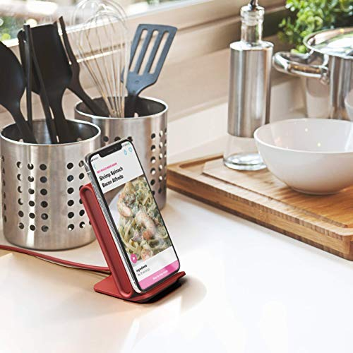 Superior Digital News - iOttie iON Wireless Fast Charging Stand Charger Qi-Certified - Slip Resistant - Ruby Red