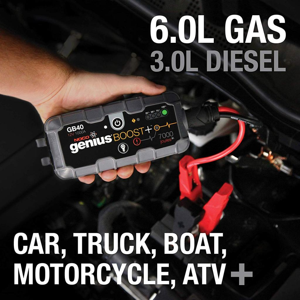 Superior Digital News - NOCO Genius Boost Plus GB40 1,000 Amp 12V UltraSafe Lithium Jump Starter - Cars, Trucks, Boats, Motorcycles, and More