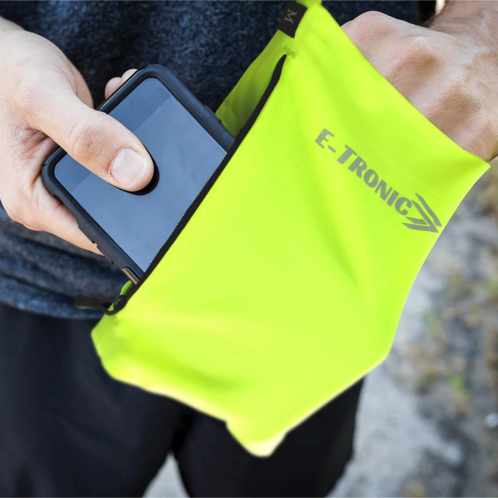 E Tronic Edge Running Armband Phone Holder- Florescent Yellow