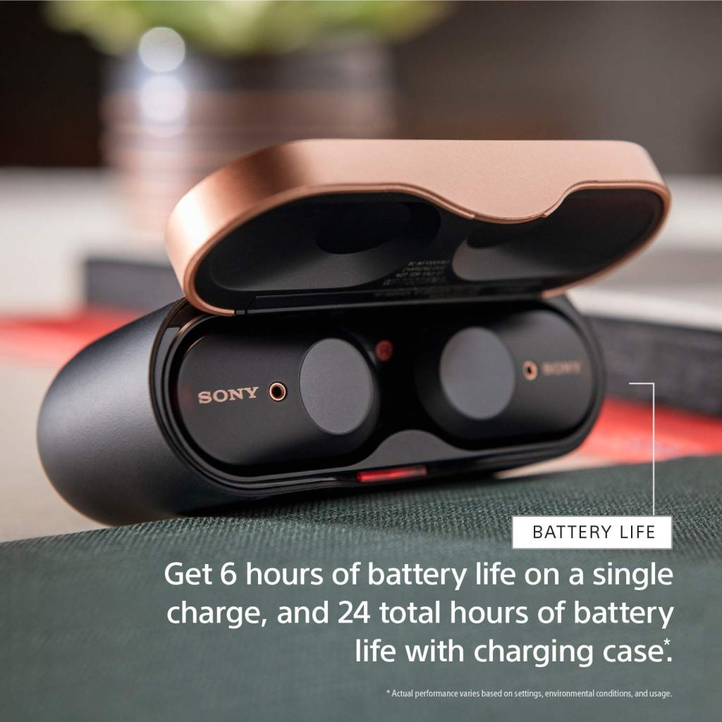 Sony WF-1000XM3 True Wireless Earbuds and Charging Case
