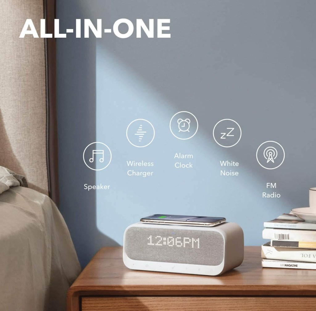 Anker Soundcore Wakey Bluetooth Speaker with Wireless Charger