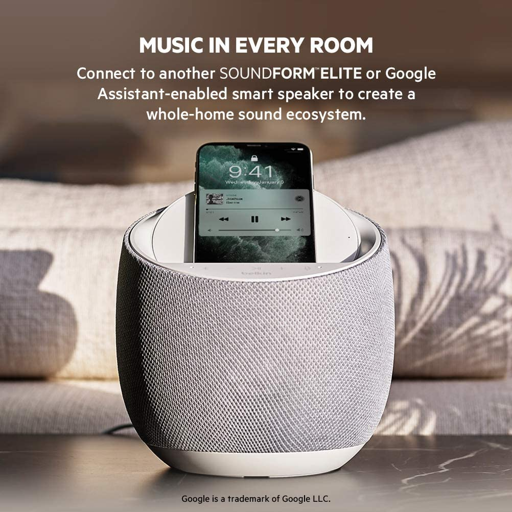 Belkin Soundform Elite Integrated Google Assistant