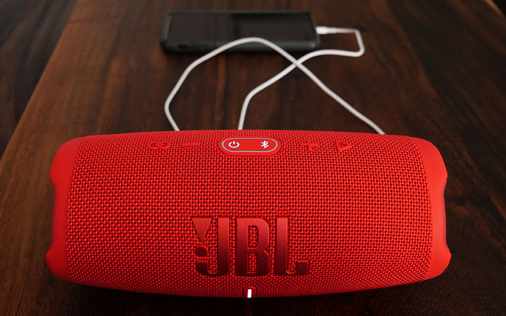 JBL Charge 5 Portable Bluetooth Speakers (Red)
