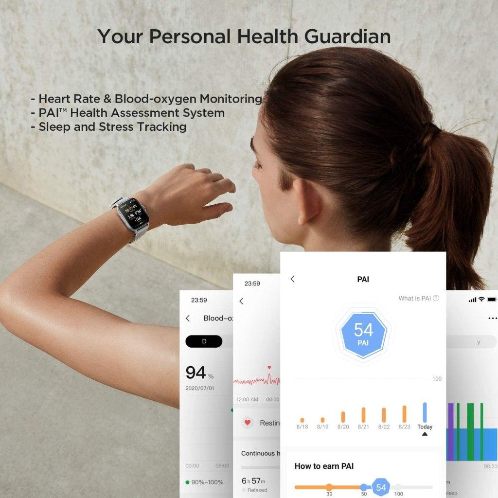 Amazfit GTS 2 Biometric Tracking