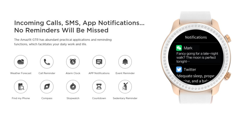 Amazfit Onboard Smart Features