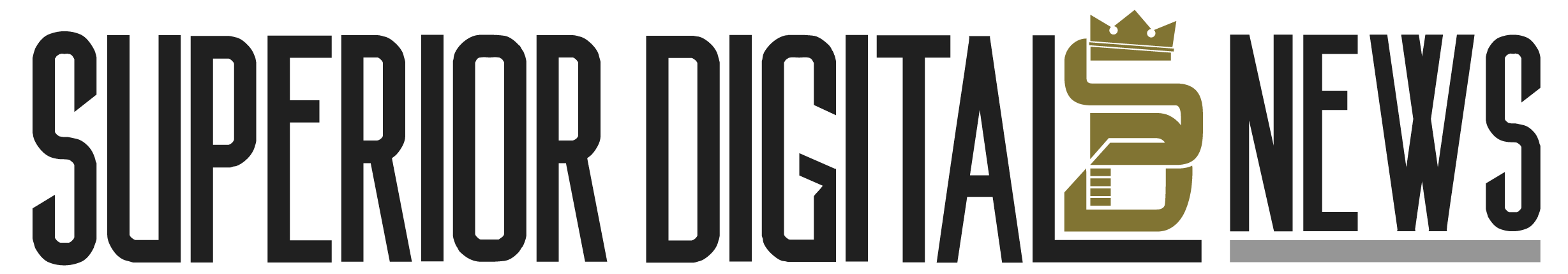 Superior Digital News Logo (Black and Gold)