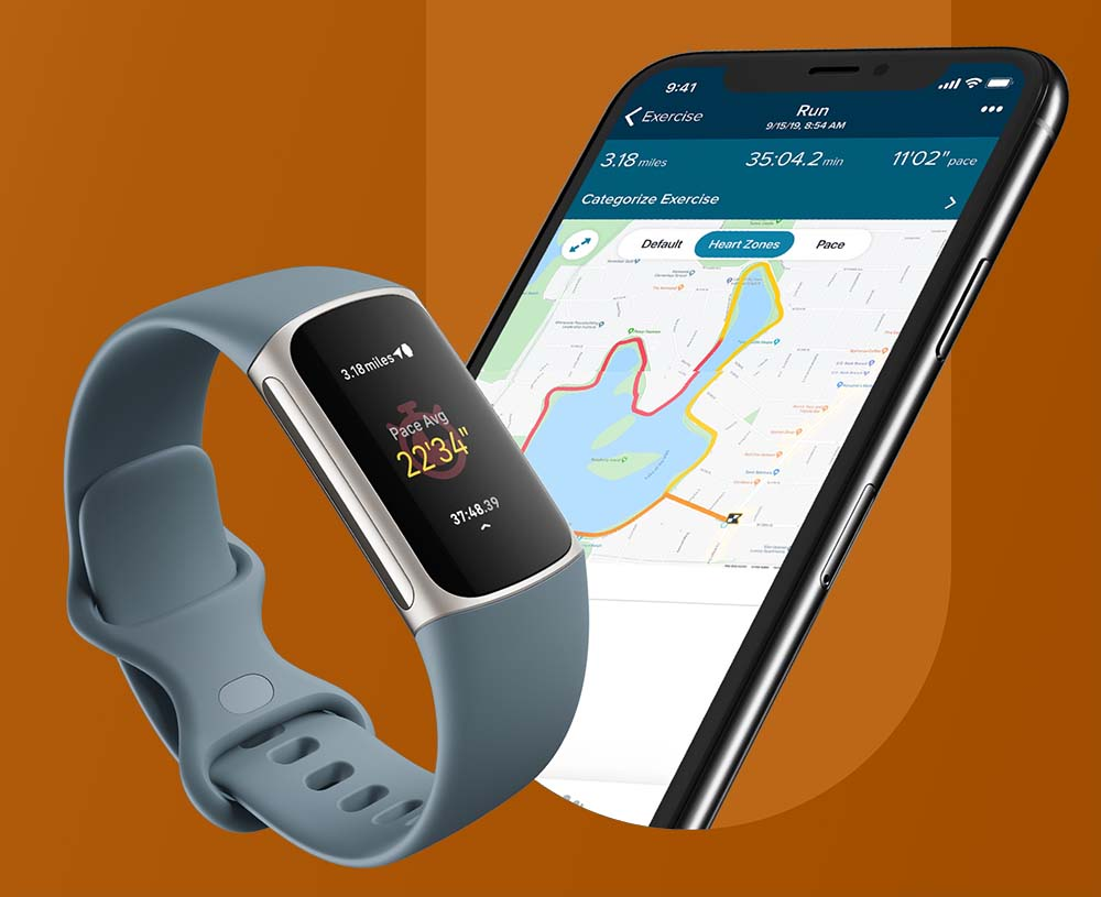 Fitbit Charge 5 - Built-In GPS+GLONASS