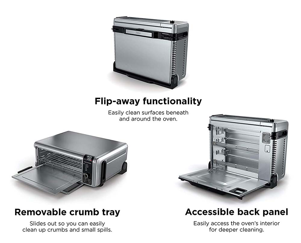 Ninja Foodi Toaster Oven Cleaning and Storage