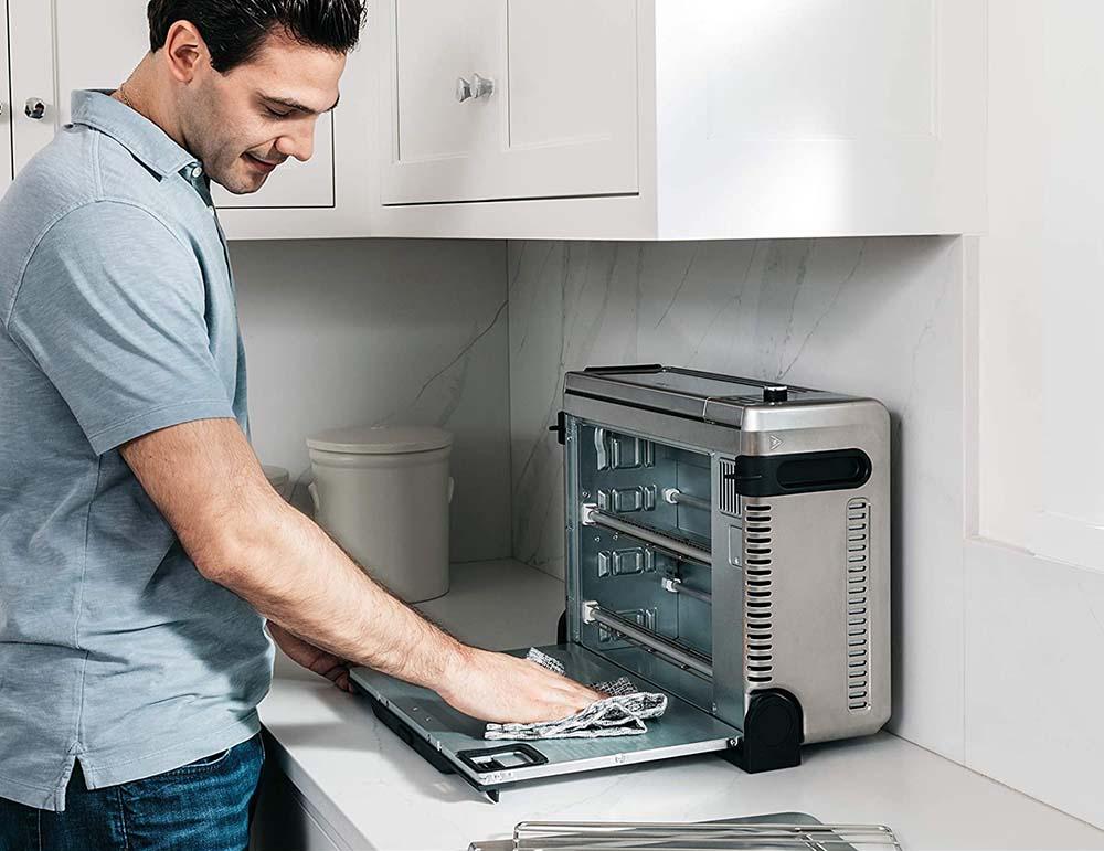 Ninja SP101 Foodi Toaster Oven - Flip-Open Bottom Panel