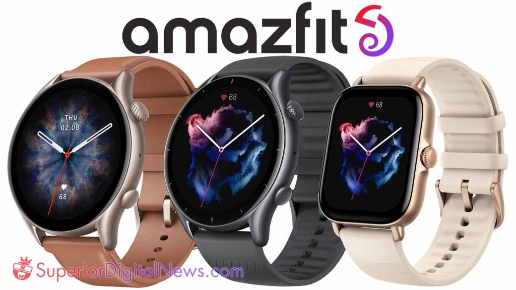 Amazfit GTR 3 Pro, GTR 3, and GTS 3