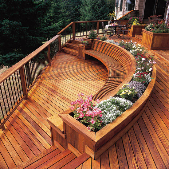 Wooden Seating for Your Outdoor Deck | Superior Hardwoods ... on Backyard Wood Patio Ideas id=92514