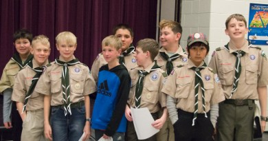 group picture of the new scouts