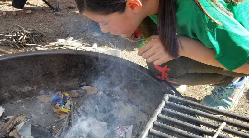Building a Fire at Camp Patiya
