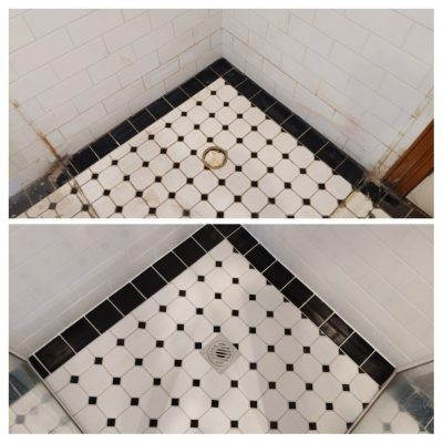 Before & After Re-tile