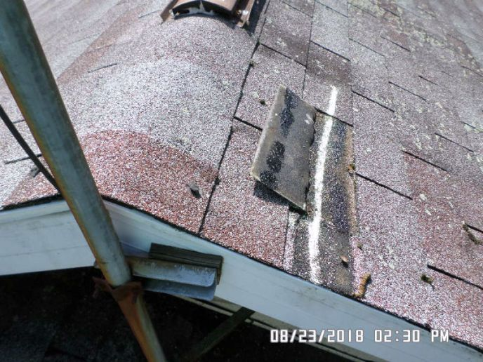 An example of documenting wind damage caused by storms in Westminster, MD. We got this roof approved for a full replacement paid by insurance.