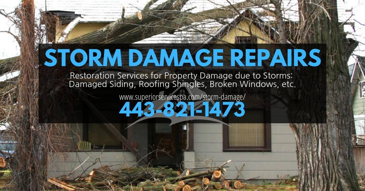 Storm Damage Hanover Pa Repairs Amp Restorations By