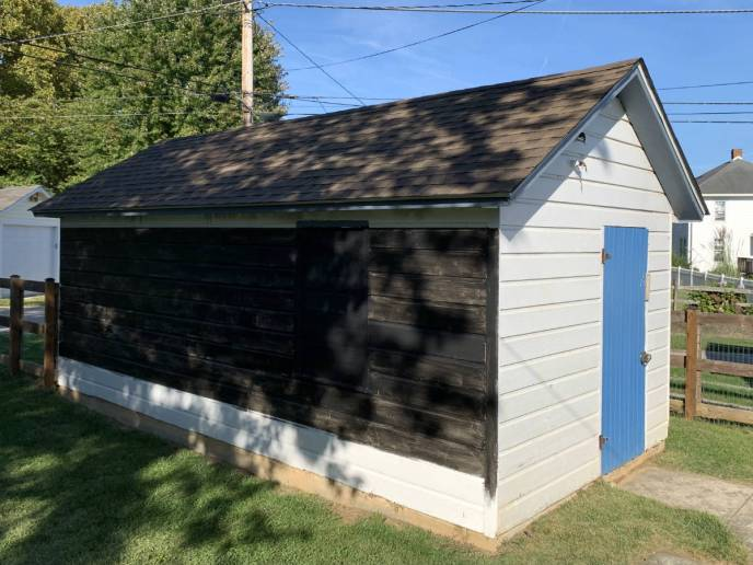 Roof repair of the shed in Hanover PA 17331 roof replacement by Superior Services