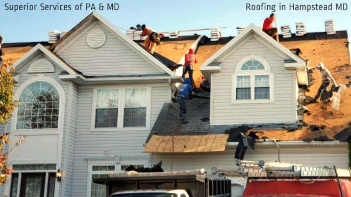 Roofing Contractor Superior Services of PA & MD offering roof replacements in Hampstead 21074 Carroll County Maryland.