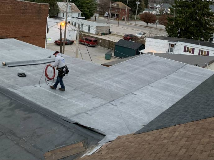 Mechanically attached rubber roofing in Hanover PA by Superior Services