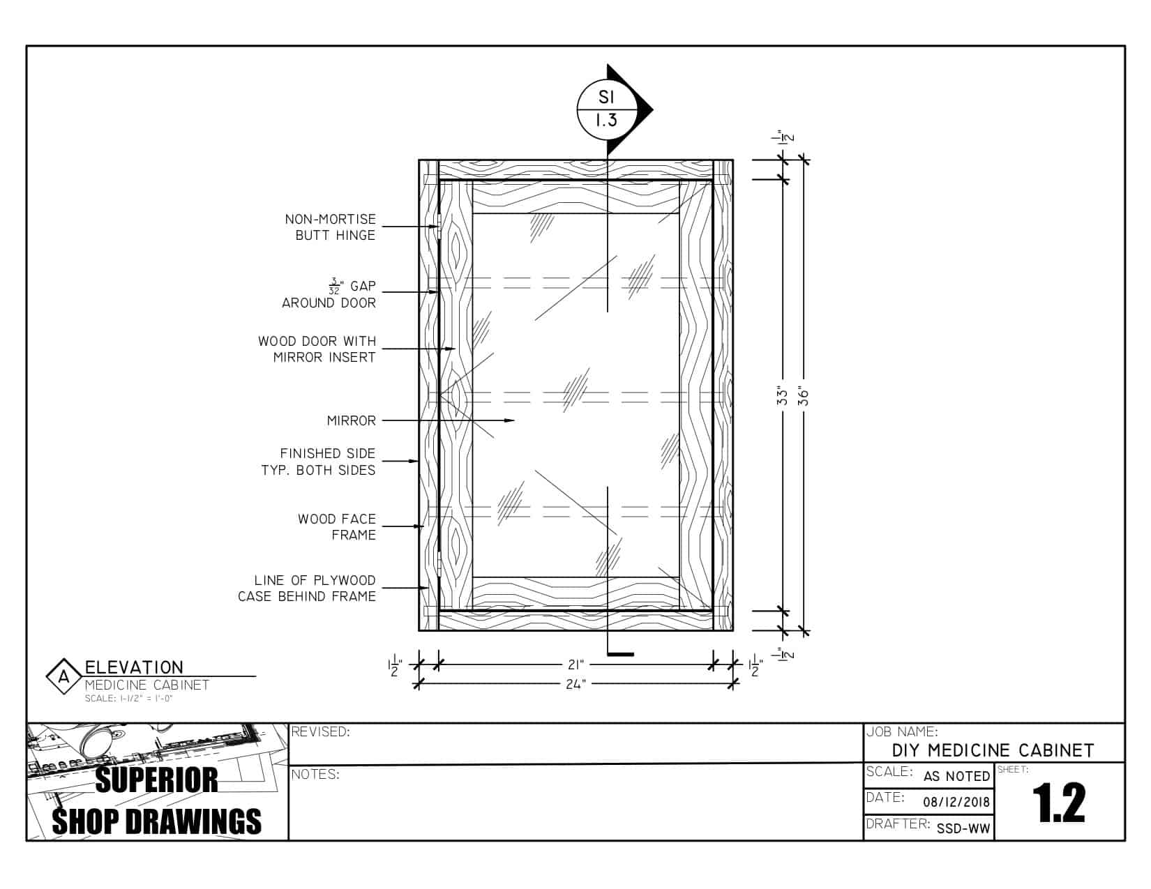 Diy Medicine Cabinet Plans Superior Shop Drawings