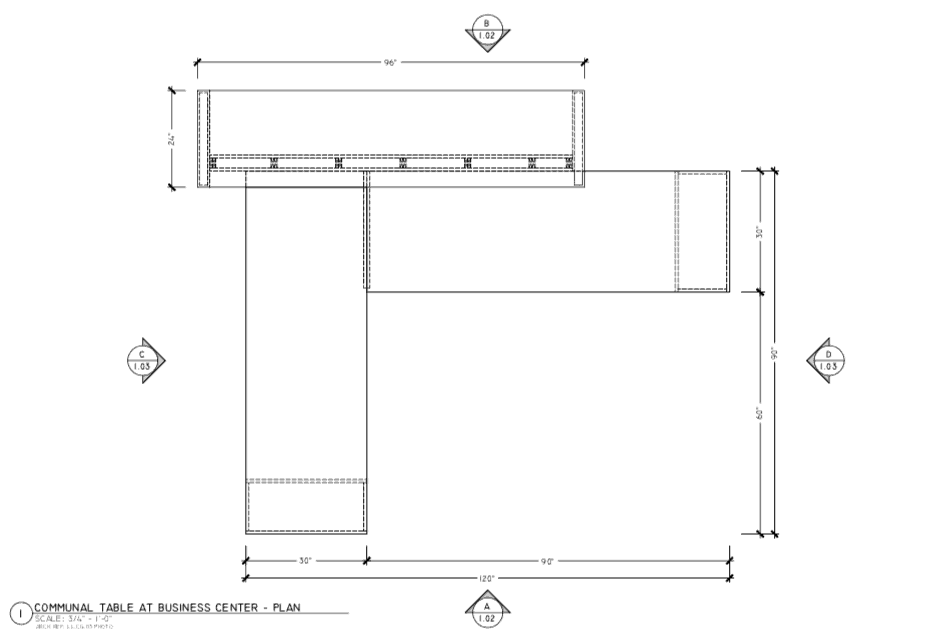 Superior Shop Drawings - Communal Table 1