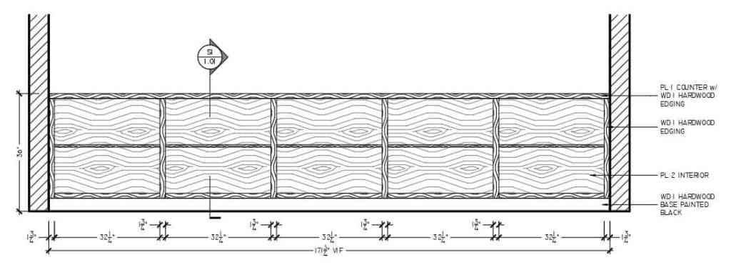 Superior Shop Drawings - Millwork Drafting Standards - Hatching