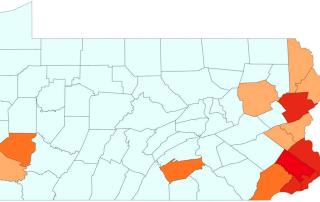 PA COVID-19 Map