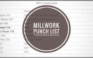 Millwork Punch List