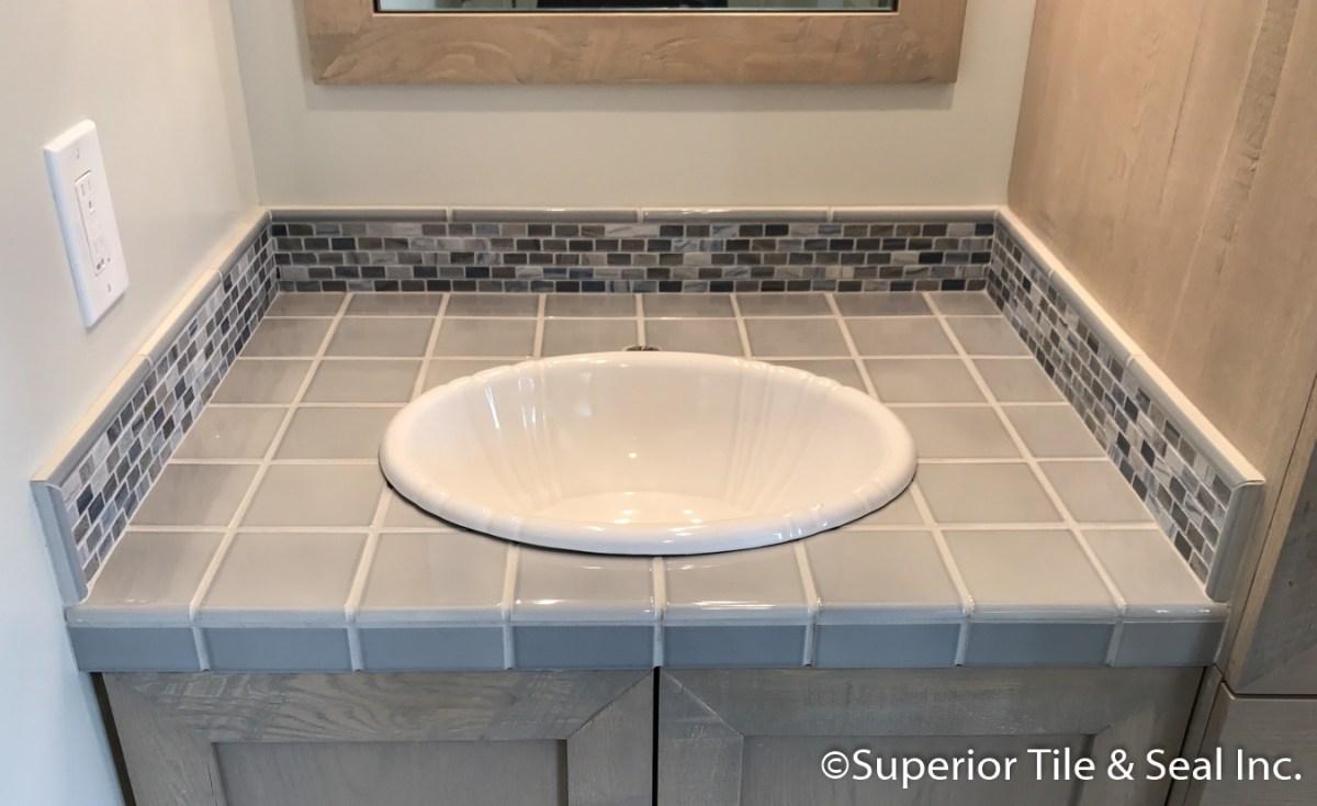 limerstone mosaic tile splash