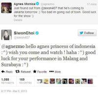 [ARTICLE] Tampil di Jakarta, Siwon SuJu Ingin Ditonton Agnes Monica