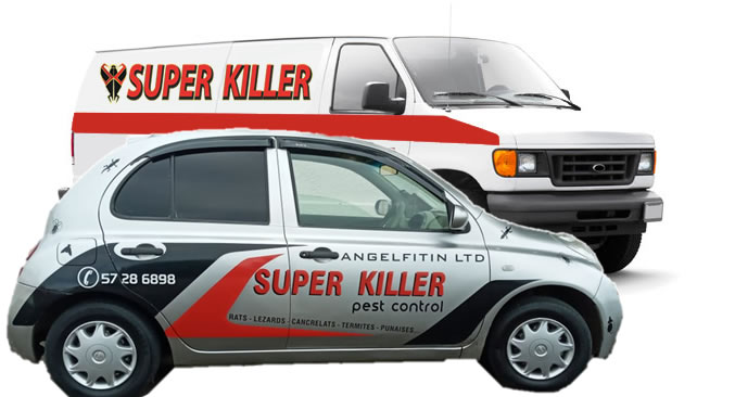 Superkiller Pest Control Vehicules