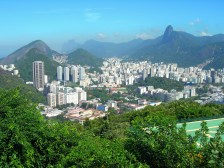 Blick über Rio vom Zuckerhut aus aufgenommen