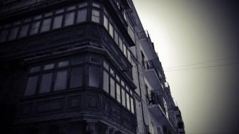Häuserfassade in Valetta
