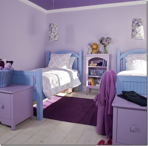 chambre fille lilas