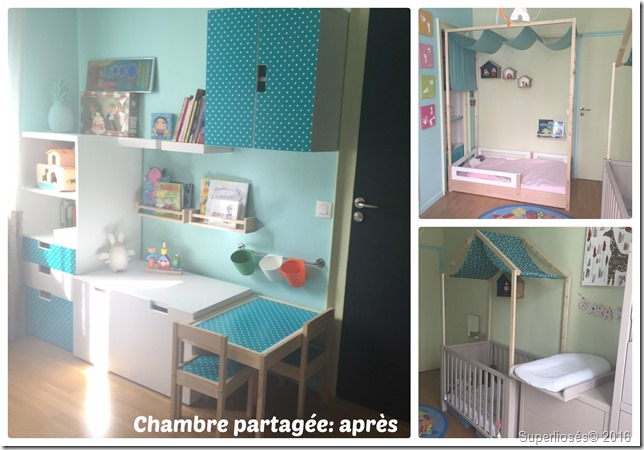 chambre partag e pour deux petites filles avant apr s superlipos s. Black Bedroom Furniture Sets. Home Design Ideas