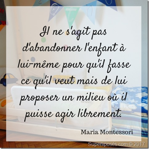 citation montessori chambre enfant