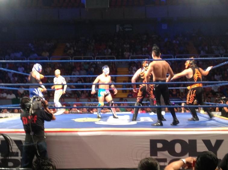 Triple A Sin Límite en León - Primera lucha / Image by facebook/luchalibreaaa
