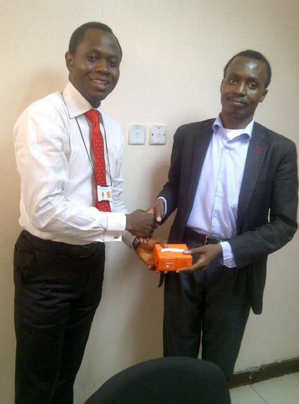 Opeyemi won an iPad Mini in a World Cup trivia competition