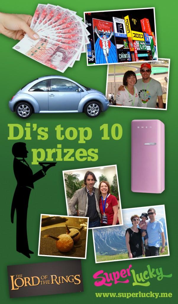 Di Coke's top ten prizes