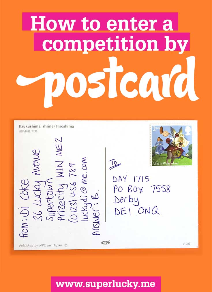 How to send a postcard entry for a competition