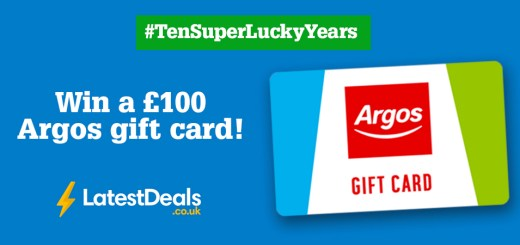 Celebrating ten years of SuperLucky - win a £100 Argos gift card with SuperLucky & LatestDeals.co.uk!