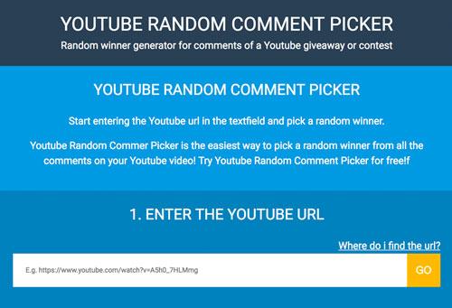 Using YouTube Random Comment Picker to choose a random winner