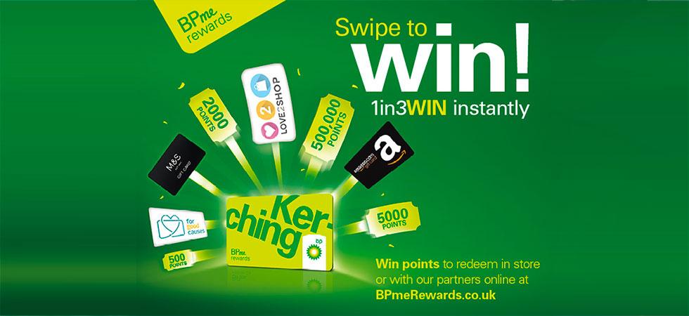 BPMe Swipe to Win promotion