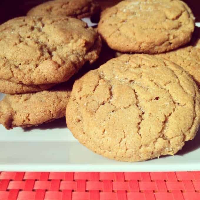 peanut butter cookies close
