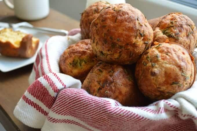 cheddar & herb popovers