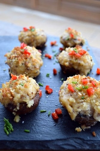seriously stuffed mushrooms