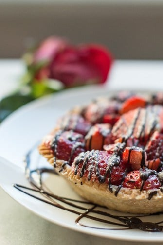 strawberry tart for two