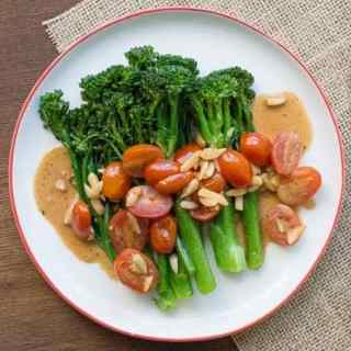 Baby Broccoli with Lemony Mustard Sauce